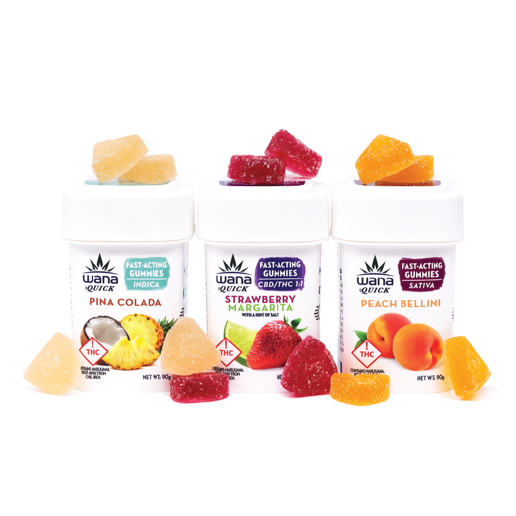 Wana Quick Gummies in 3 flavors