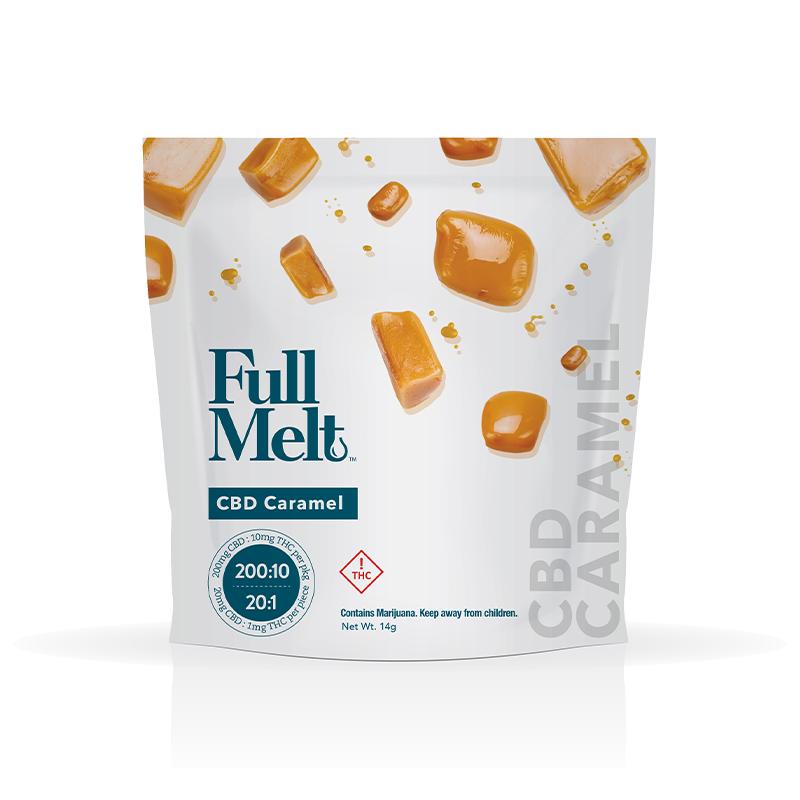 Full Melt Caramels 10pk Thc10mg Cbd200mg