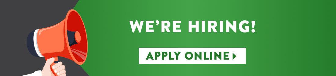 We're hiring! Apply online.