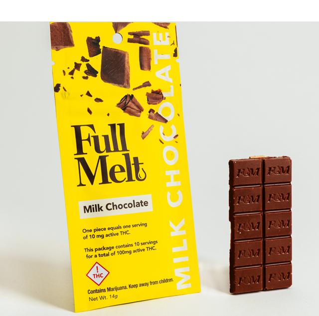 Full Melt Milk Chocolate Bar THC 100mg