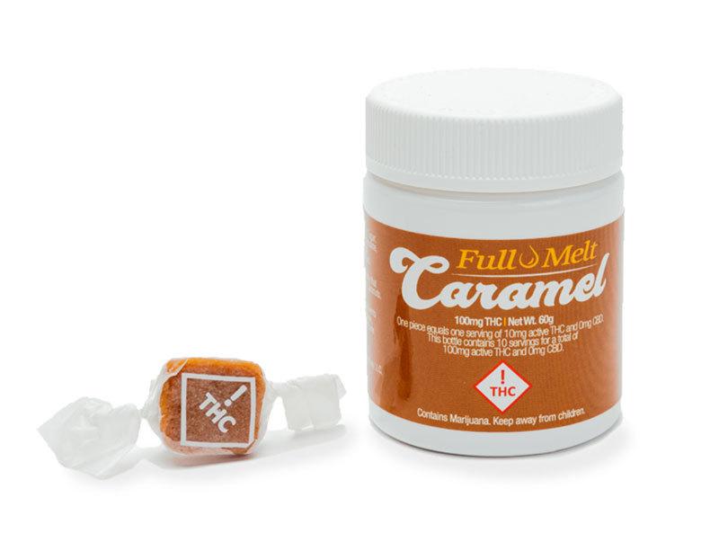 Full Melt Caramels 10pk THC 100mg