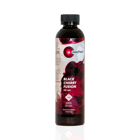 Cannapunch Drink Black Cherry 100mg