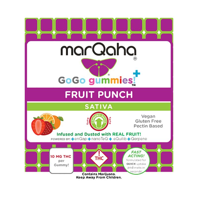 Marqaha Gummy Fruit Punch Sativa 100mg