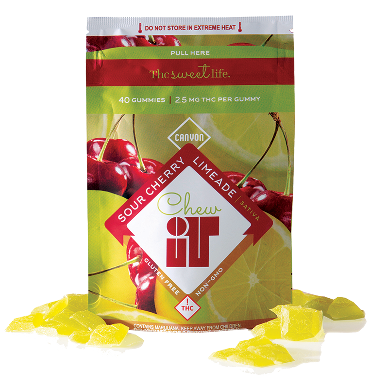 Canyon Chew It Sour Cherry Limeade 100mg