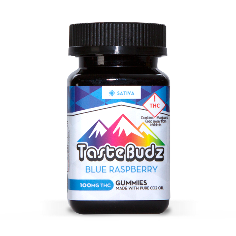 Tastebudz Blue Raspberry Sativa 100mg