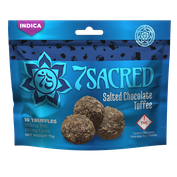 7 Sacred Salted Toffee Truffles Indica 100mg