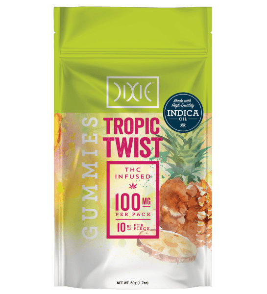 Dixie Gummies Tropic Twist 100mg