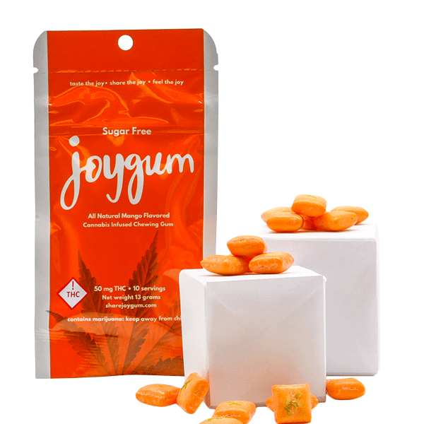 Joy Gum Sugar Free Mango 50mg