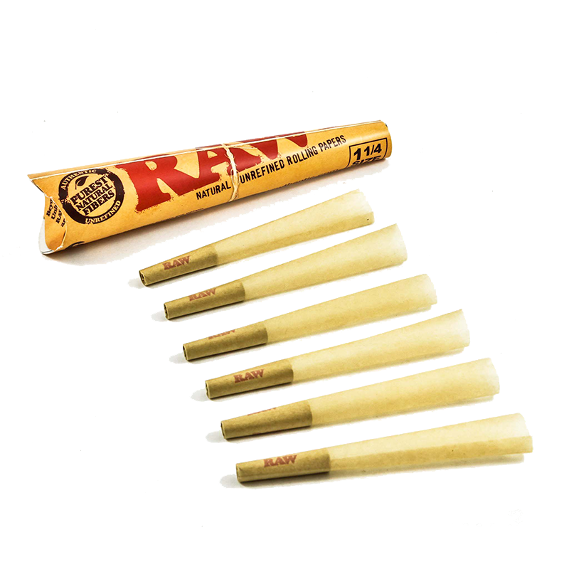 "Cones Raw 1 1/4"" 6 Pack"