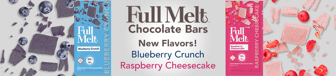 Full Melt New Flavors: Blueberry Crunch, Raspberry Cheesecake