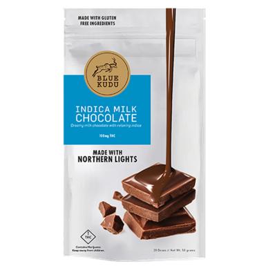 Blue Kudu Indica Milk Chocolate Bar 100mg