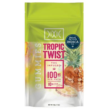 Dixie Gummies Tropic Twist 100mg
