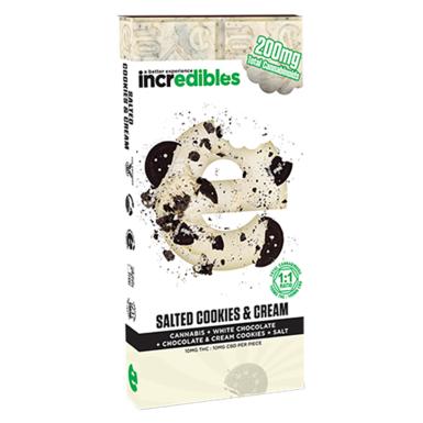 Incredibles Salted Cookies & Cream CBD Bar 100mg