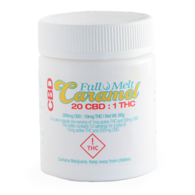 Infusiasm Full Melt Caramels 10pk THC10mg CBD200mg