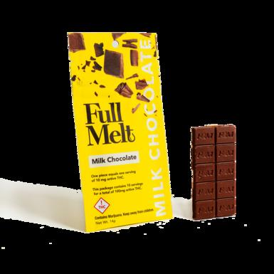 Infusiasm Full Melt Milk Chocolate Bar THC 100mg