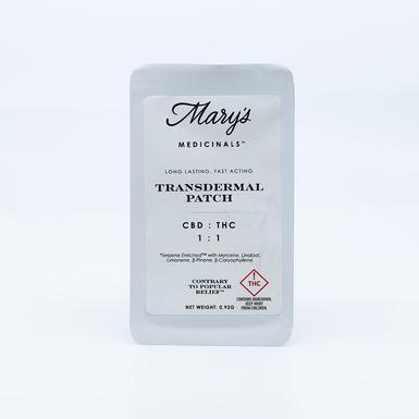 Mary's Medicinals Patch CBD/thc 1_1 5mg