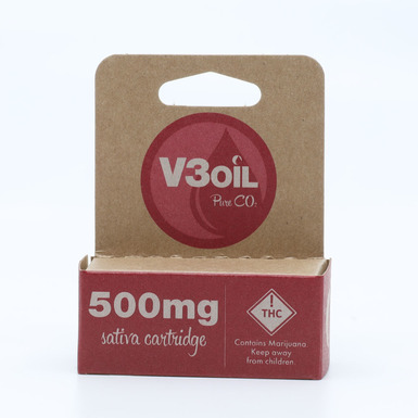 V3 Oil Sativa Cartridge 500mg