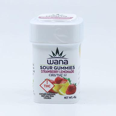 Wana Strawberry Lemon Gummies CBD 1_1 100mg