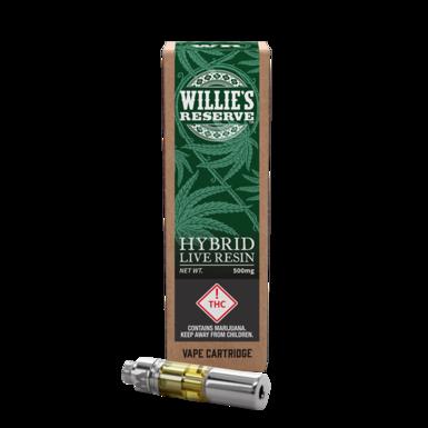 Willie's Reserve Live Resin Cart Hybrid 500mg